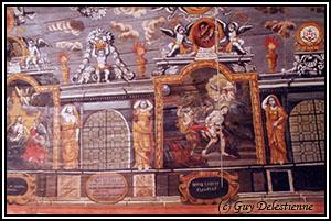 Peinture sur lambris (Sainte-Suzanne, Mur-de-Bretagne, 2003)