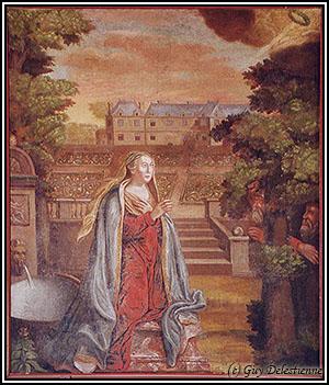 Sainte Suzanne en prière (Sainte-Suzanne, Mur-de-Bretagne, 2003)