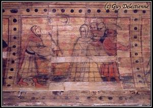 Lambri peint (Chapelle Saint-Jacques, Saint-Léon, 2003)