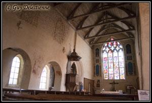 Vue intérieure (Eglise Saint-Gal, Langast 2005)
