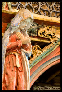 Marie, détail du Jubé (Chapelle Saint-Fiacre, Faouet, 2007)