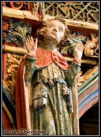 Joseph, détail du Jubé (Chapelle Saint-Fiacre, Faouet, 2007)