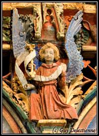 détail du Jubé (Chapelle Saint-Fiacre, Faouet 2007)