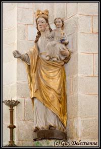 Vierge à l'enfant (Chapelle Sainte-Barbe, Faouet, 2008)