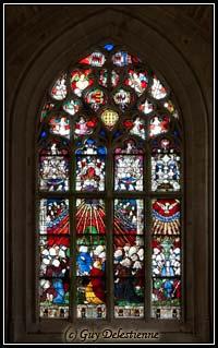 Vitrail (Chapelle Sainte-Barbe, Faouet, 2008)