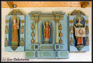 Retable polychrome (Chapelle Saint-Guénaël, Cléguer, 2008)