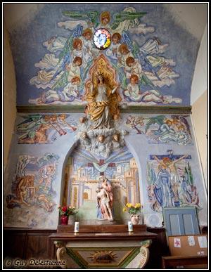 Fresque art déco (Eglise Saint-Gérand, Cléguer, 2009)