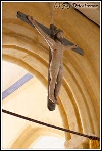 Christ en croix (Eglise paroisiale de la Trinité, Calan, 2010)