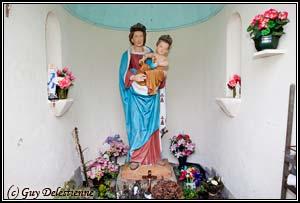 Vierge à l'Enfant (Oratoire de Penterff, Plouay, 2011)